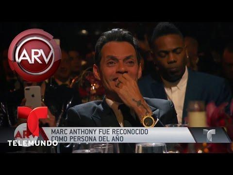 "Marc Anthony elegido ""persona del año"" | Al Rojo Vivo | Telemundo"