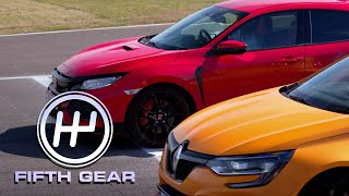 Honda Civic Type R VS Renault Sport Megane R.S.   Fifth Gear by Fifth Gear