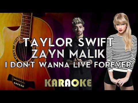 ZAYN & Taylor Swift - I Don't Wanna Live Forever | HIGHER Key Acoustic Guitar Karaoke Instrumental