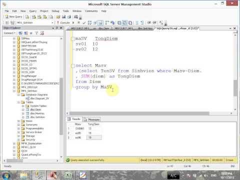 VD06 - Câu lệnh  Group by trong SQL