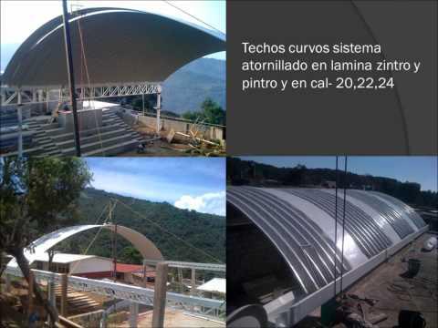 techos curvos - techos curvos,estructuras metalicas,cercas de malla ciclon y alumbrado publico.