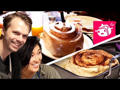 We Tried To Re-Create This Giant Cinnamon Roll