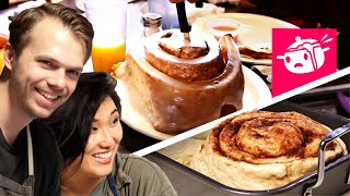 Video We Tried To Re-Create This Giant Cinnamon Roll MP3, 3GP, MP4, WEBM, AVI, FLV Oktober 2018