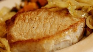 Cook a delicious, juicy pork loin chop every time with this simple recipe--and use a lot of onion and garlic!--especially garlic (those two ingredients are actually ...