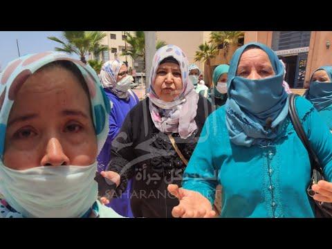 بالدموع ...عمال فندق صحراء رجينسي بالداخلة يروون للصحراء الان وقائع تعنيفهم خلال إعتصامهم