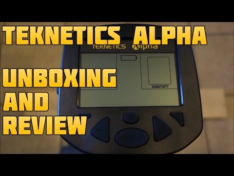 Metal Detecting:  Teknetics Alpha Unboxing and Testing Review!
