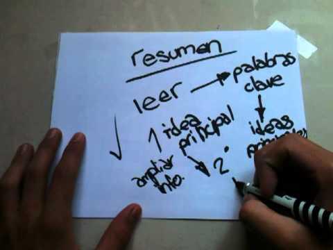 Consejos para estudiar: Hacer resumen – trucos para hacer un buen resumen