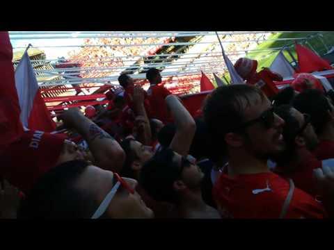 Independiente 4 - 1 rasin  (recibimiento desde la norte) - La Barra del Rojo - Independiente