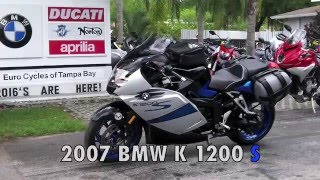 6. Pre-Owned 2007 BMW K 1200 S Titan Silver / Cosmic Blue / Night Black at Euro Cycles of Tampa Bay