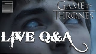 Game Of Thrones Season 7 Live Q&ASubscribe! http://tinyurl.com/o93l5gnNEW Shirts! https://teespring.com/stores/smokescreenvidsLive stream talking Game of Thrones Season 7, answering your questions, talking about the Game Of Thrones Season 7 trailer and just hanging out with you guys.  Game of Thrones Season 7 is right around the corner.  Get hype!Donate:  https://youtube.streamlabs.com/smokescreenvids1 (Will show on screen while streaming!)Music by TeknoAXE : https://www.youtube.com/watch?v=mekAc_3uWNY___________________________________________Become a Patreon: https://www.patreon.com/smokescreenvidsGet My Nerdy T-Shirts here: http://shrsl.com/?~aby2Support SmokeScreen by shopping on Amazon: http://tinyurl.com/ppogxl2Geek Gear: http://www.jdoqocy.com/click-8070392-...____________________________________________________Send Stuff:Lochmoor ProductionsPO Box 1011Kannapolis, NC 28083Follow Me on Social: Facebook: https://www.facebook.com/smokescreenvidsTwitter: https://twitter.com/smokescreenvids @smokescreenvidsInstagram: https://instagram.com/smokescreenvids @smokescreenvidsWebsite: http://smokescreenvids.com