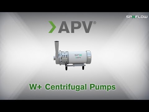 SPX FLOW - APV - W+ Series Centrifugal Pump Animation