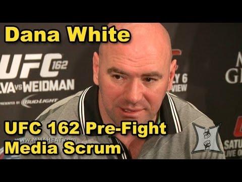 Dana White Pre-Fight Media Scrum: UFC 162, Silva vs Roy Jones Jr + Bonuses