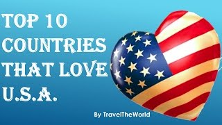 """Top 10 Countries That Love U.S.A.Discover top 10 countries that love America.Visit our Channel for Top Attractions:https://www.youtube.com/user/talancutaPlease Subscribe to our Channel:https://www.youtube.com/subscription_center?add_user=talancuta01. Philippines 92%02. Israel 84%03. South Korea 82%04. El Salvador 80%04. Kenya 80%05. Italy 78%06. Ghana 77%07. Bangladesh 76%07. Vietnam 76%08. France 75%08. Tanzania 75%09. Senegal 74%10. Poland 73%10. Thailand 73%Visit our Channel for Top Attractions:https://www.youtube.com/user/talancutaPlease Subscribe to our Channel:https://www.youtube.com/subscription_center?add_user=talancutaArtist:Joseespirit - Joseespirit Music Playlist: http://bit.ly/Joseespirit-MFMTrack Name:MadnessGenre:Moombahton MusicDownload Joseespirit - Madness Music for FREE:http://bit.ly/JoseespiritMadnessThis track's license, Creative Commons Attribution, requires attribution. If you use this song in a video, cite the creator using the info below:""""Madness"""" by """"Joseespirit"""" is licensed under a Creative Commons Licence.http://bit.ly/JoseespiritMadnesshttps://youtu.be/WGbTu8Vmtz8Joseespirit Social links:Youtube : https://www.youtube.com/channel/UCQQnlRVNyxCBcnsjmtqF8YgInstagram : https://instagram.com/joseespirit/Facebook : https://www.facebook.com/joseespiritdjSoundcloud : https://soundcloud.com/jose-antonio-molina-esojoMore info about the Creative Commons license:http://bit.ly/CCMusicLicenseFor more FREE MUSIC Visit Music For Monetize:http://bit.ly/MusicForMonetizeChannel"""