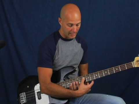 Learn to play Bass guitar two hand tapping pull off technique lesson ala Stu Hamm