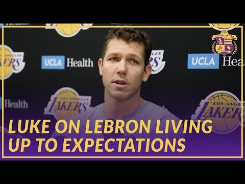Video: Lakers Interview: Luke Walton Talks About LeBron Passing Wilt and Living Up to Expectations