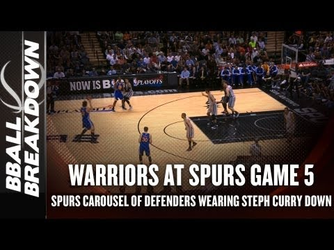 tony - FOLLOW: twitter.com/bballSource Coach Nick breaks down what the Spurs are doing to stop Klay Thompson and Steph Curry from shooting as well as they did early...