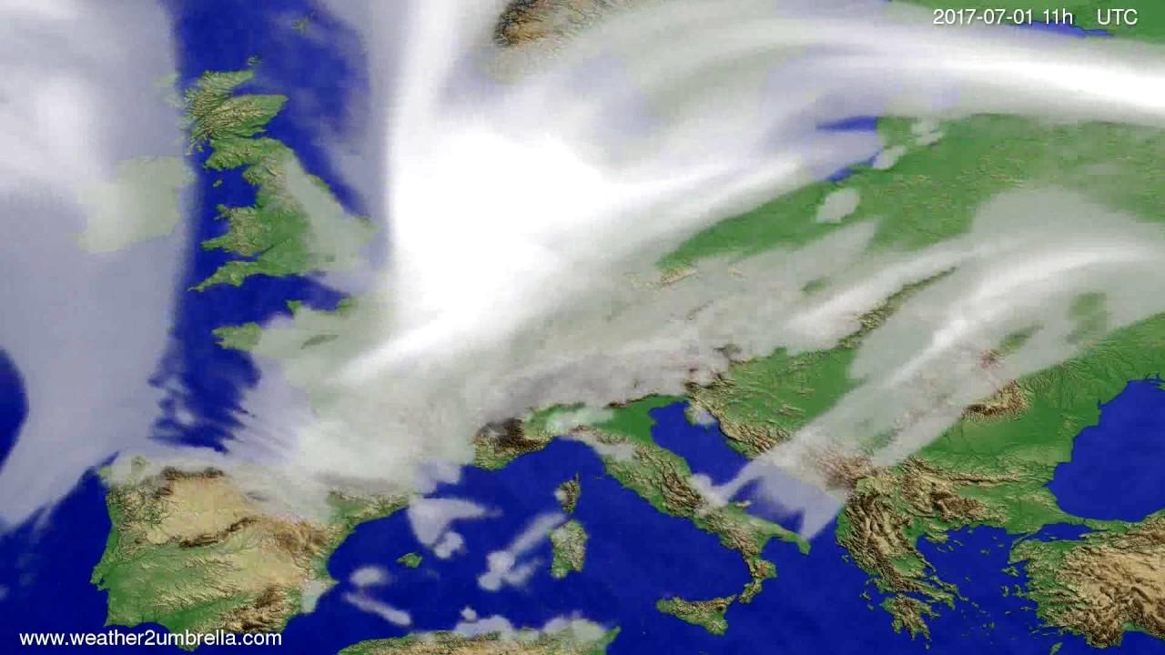 Cloud forecast Europe 2017-06-28