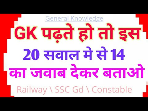 General Knowledge Quiz Test  Gk for SSC Gd Constable Exam in Hindi
