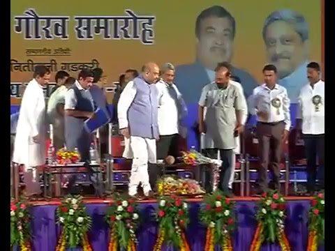 Felicitation ceremony of Shri Amit Shah and Chief Minister of Goa Shri Manohar Parrikar