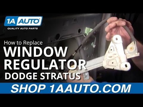 How to Install Replace Rear Power Window Regulator Dodge Stratus 01-06 1AAuto.com