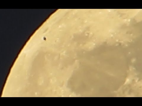 WHO/WHAT Is In Our Skies, May 2 2015, UFO Flyby in front of the Moon