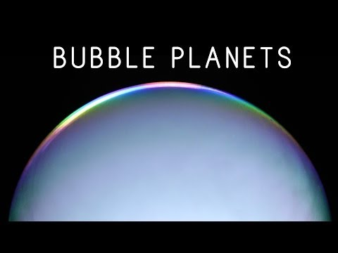 Creating Planets with Dry Ice Bubbles