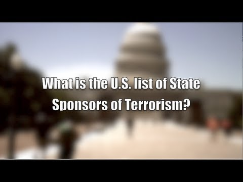 Why is Cuba on the U.S. list of State Sponsors of Terrorism?