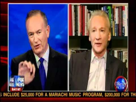Bill O'Reily - O'Reilly Factor 9/30/2010 Bill O'Reilly vs Bill Maher Part 2.
