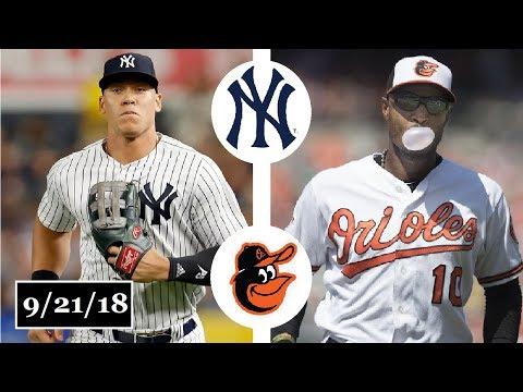 Baltimore Orioles vs New York Yankees Highlights || September 21, 2018