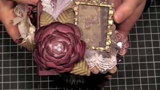 Vintage-Shabby Chic Scrapbook Mini Album