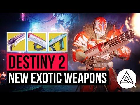 DESTINY 2 | ALL Exotic Weapons So Far - Sunshot, Sweet Business & Riskrunner