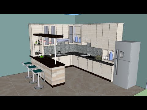 Sketchup tutorial interior design kitchen Kitchen design software google sketchup