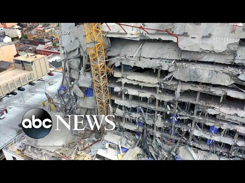 30 hurt, 2 killed and worker missing after New Orleans hotel collapse