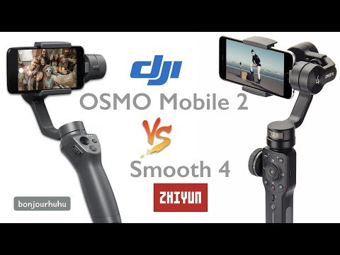 DJI OSMO Mobile 2 vs ZHIYUN Smooth 4 comparison