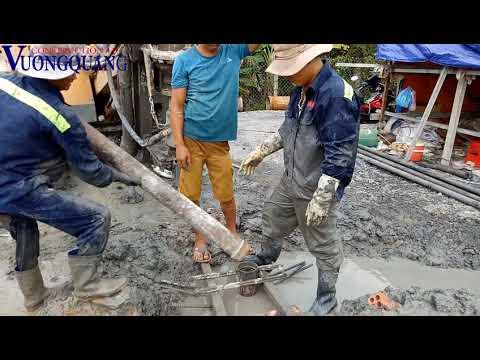 Đổ bê tông cọc nhồi của thợ xây ở quê I phần 2 I construction 4.0
