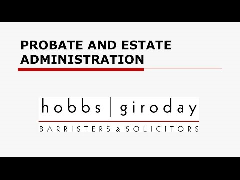Probate and Estate Administration
