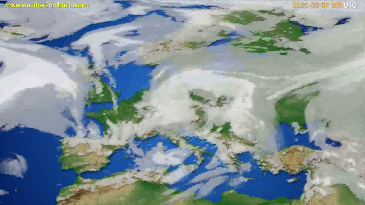 Cloud forecast Europe // modelrun: 00h UTC 2020-03-06