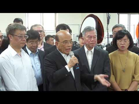 Video link:Premier Su Tseng-chang inspects new machinery for face mask production (Open New Window)