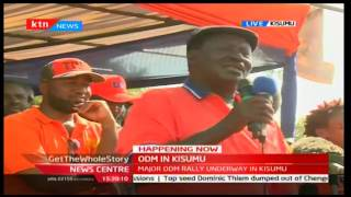 Jubilee are liars, thieves, tribal and enemies of development' says Raila in Kisumu rally, 1/10/2016