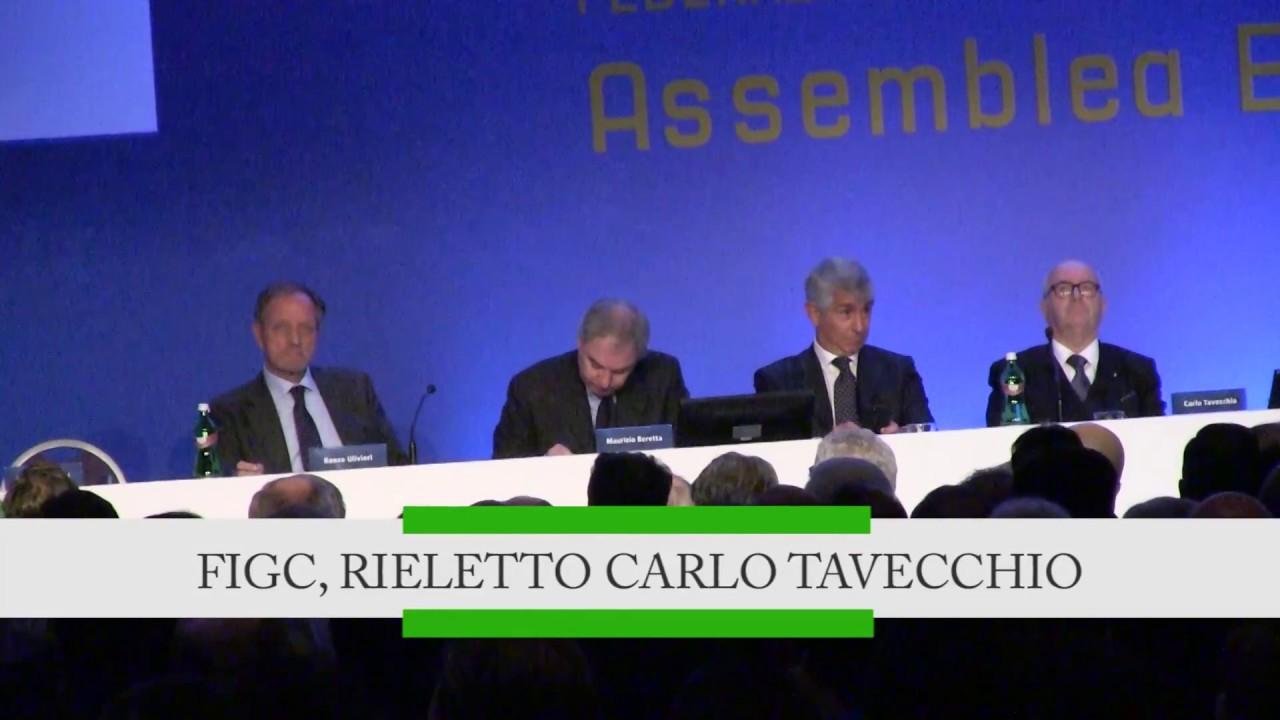 Figc, rieletto Carlo Tavecchio