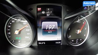 9. 2016 Mercedes GLC 250 d (204hp) - 0-200 km/h acceleration (60FPS)