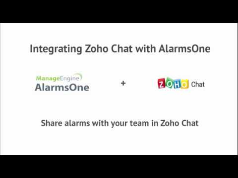 ManageEngine AlarmsOne and Zoho Chat Integration : IT Alert Management Made Easy.