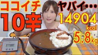 Video 【MUKBANG】 [Sad News] Ichibanya's Curry [LEVEL 10] IS So Spicy To Eat..! [5.8kg] 14904kcal [Use CC] MP3, 3GP, MP4, WEBM, AVI, FLV Oktober 2017