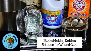 Demonstration of making Dakin's Solution by Nurse Amy (FF if you viewed part 1). Recipes and expiration dates reviewed. It is used for wound cleaning and daily care of ulcers, poor healing wounds and more. Part 1 explains what Dakin's Solution is : https://www.youtube.com/watch?v=k6_Iitf8orABy Nurse Amy Alton and Dr. Joe Alton ofhttps://www.doomandbloom.net/STORE: https://store.doomandbloom.net/Twitter: https://twitter.com/preppershowFacebook: https://www.facebook.com/groups/survi...