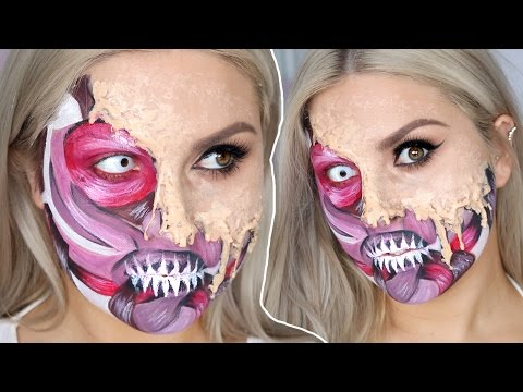 Melting Skin  Exposed Muscles в Halloween SFX Tutorial Gore