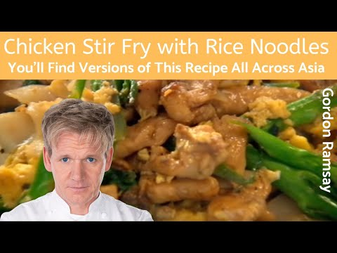stir - Chicken Stir Fry with Rice Noodles Gordon Ramsay's Ultimate Cookery Course (http://ramsayrecipes.net/2013/07/gordon-ramsay-chicken-stir-fry-with-rice-noodles...