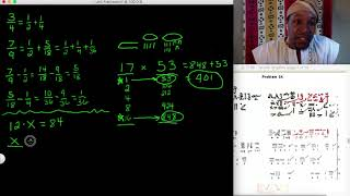 In Afrikan math all fractions are 1 and all multiplicationi is by 2 (part I)