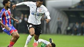 Bahia não resiste ao líder Corinthians e perde a segunda seguida na Série A.Gols: Jô, Balbuena e Marquinhos Gabriel.
