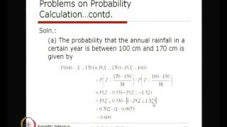 Mod-01 Lec-31 Probability Models Using Normal Distribution