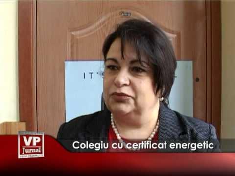 Colegiu cu certificat energetic
